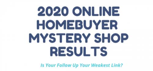 Webinar: 2020 Vision: Online Homebuyer Mystery Shop Revealed