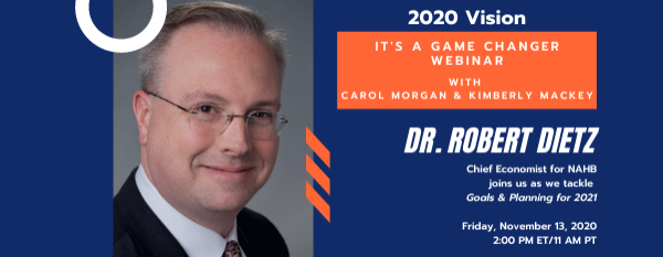 2020 Vision: It's a Game Changer Webinar Series Continues with 2021 Planning, Budgeting, and Goal Setting